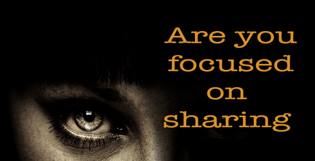 Are you hiding or sharing?